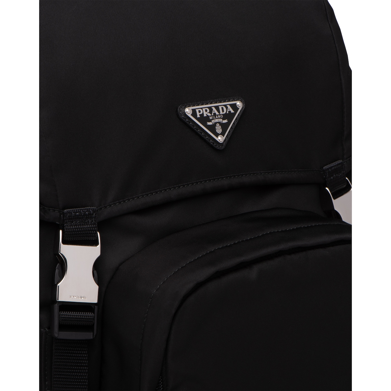 Prada Nylon and Saffiano leather backpack 6