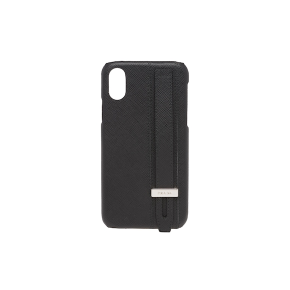 Saffiano leather iPhone X cover