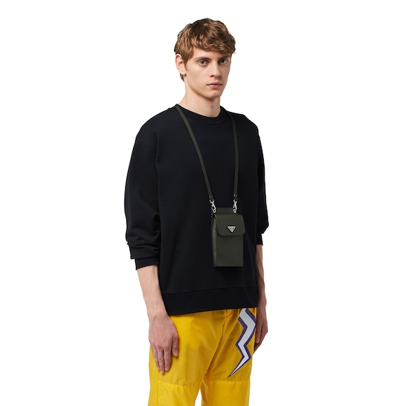 Saffiano leather cellphone case