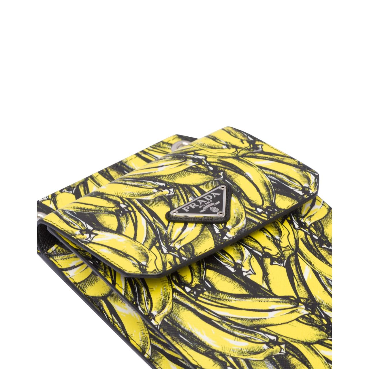 Prada Saffiano 皮革手机包 4