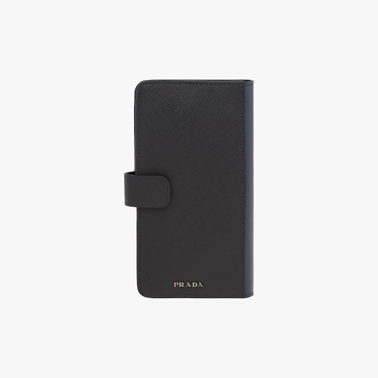 Saffiano leather wallet and cellphone case