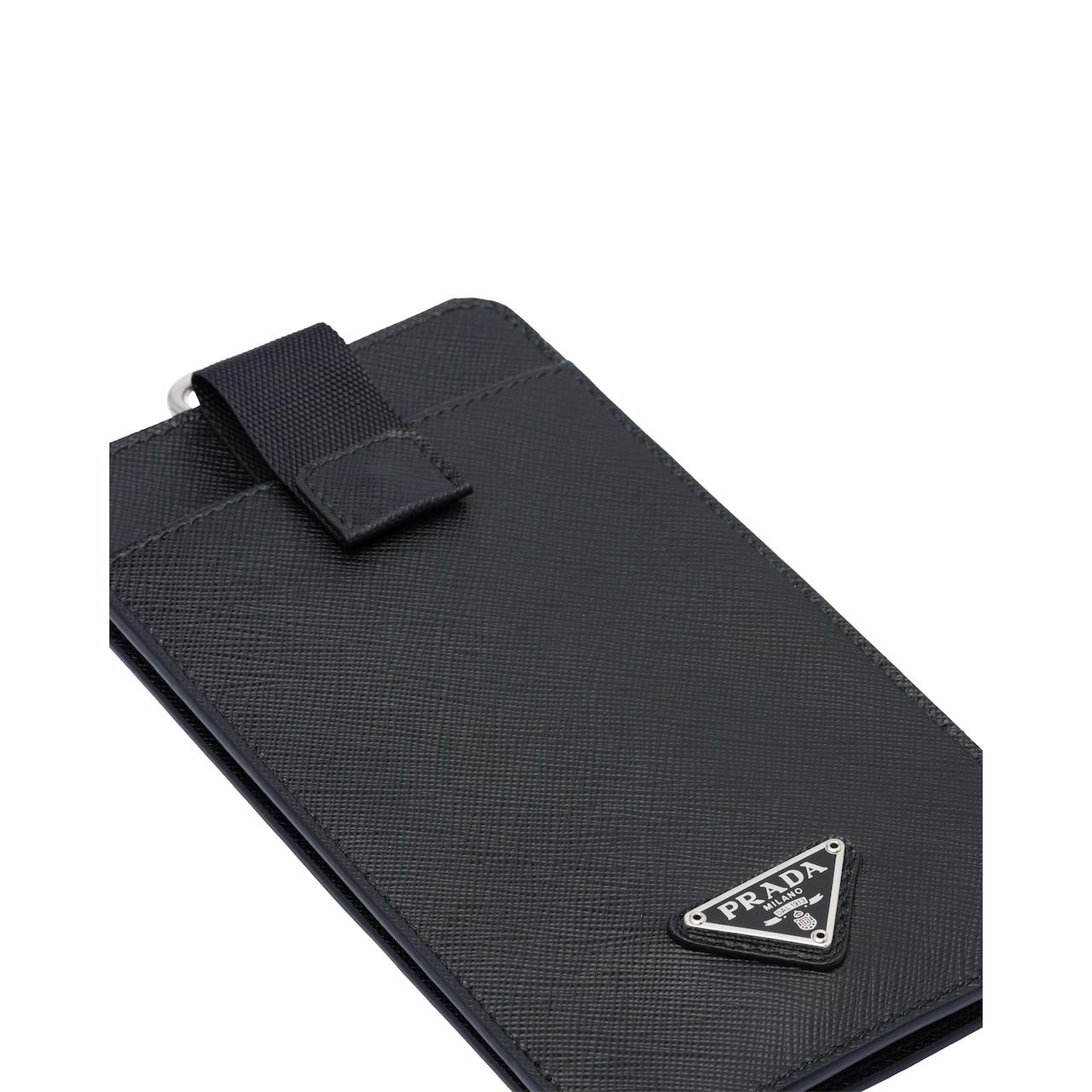 Prada Saffiano 皮革手机包 2