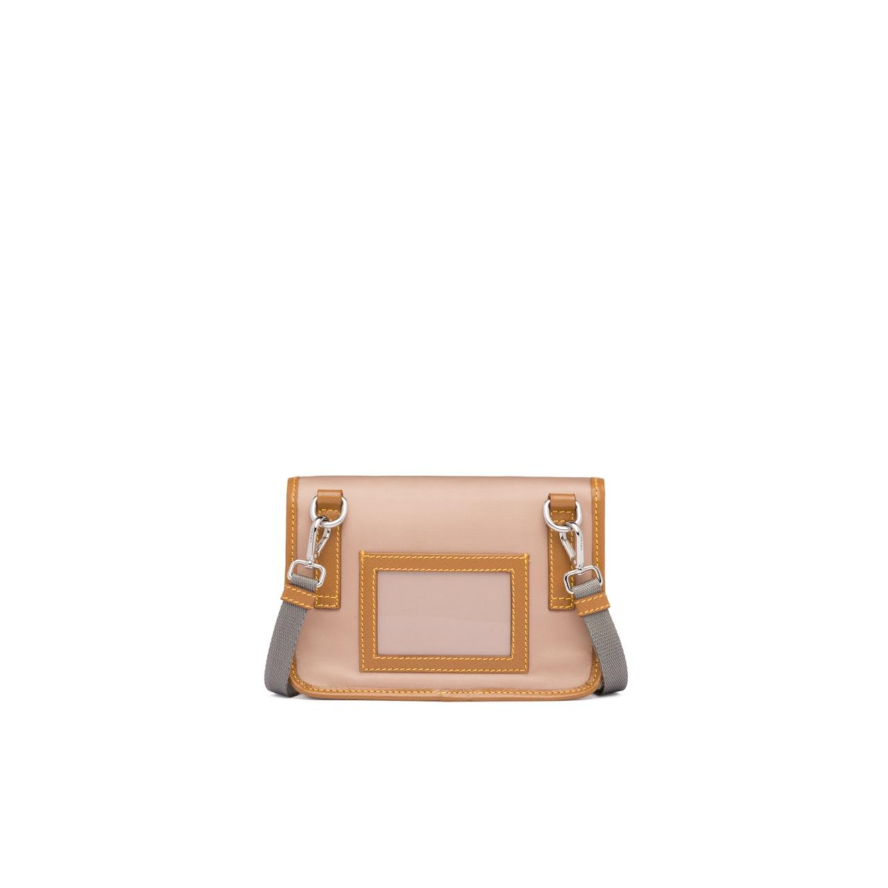 Prada Nylon and Saffiano cellphone case with shoulder strap 3