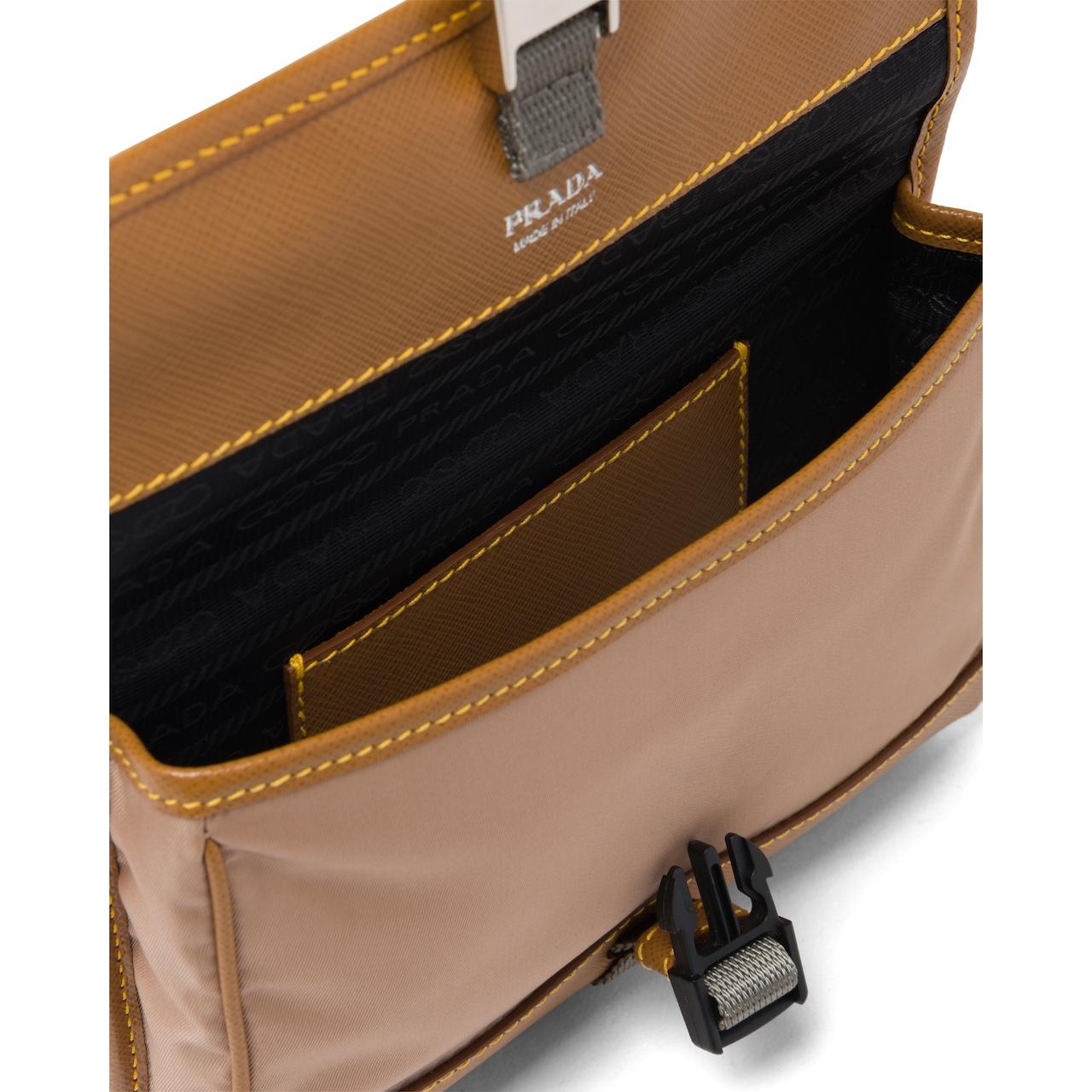 Prada Nylon and Saffiano cellphone case with shoulder strap 4