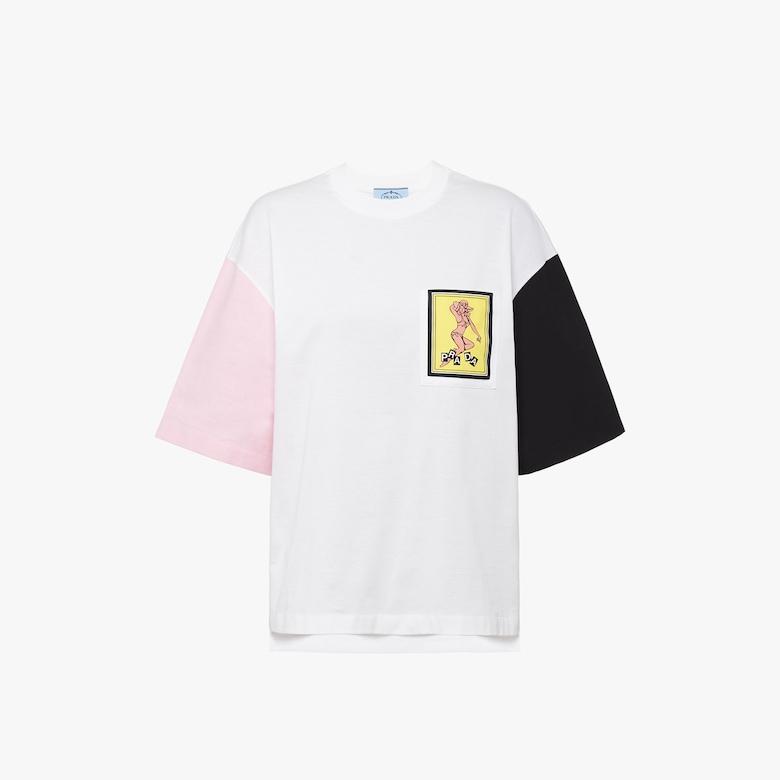 Prada Jersey and poplin T-shirt - Woman