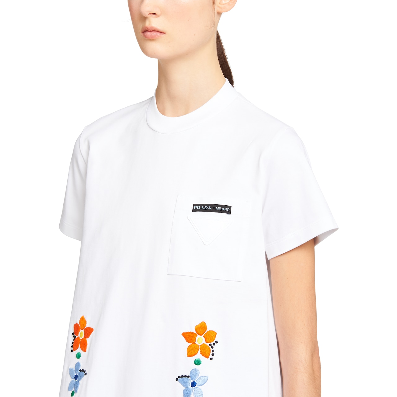 Prada Cotton jersey T-shirt with embroidery 5