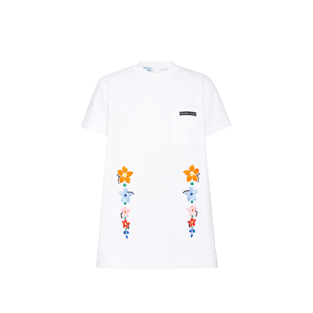 Prada Cotton jersey T-shirt with embroidery 1