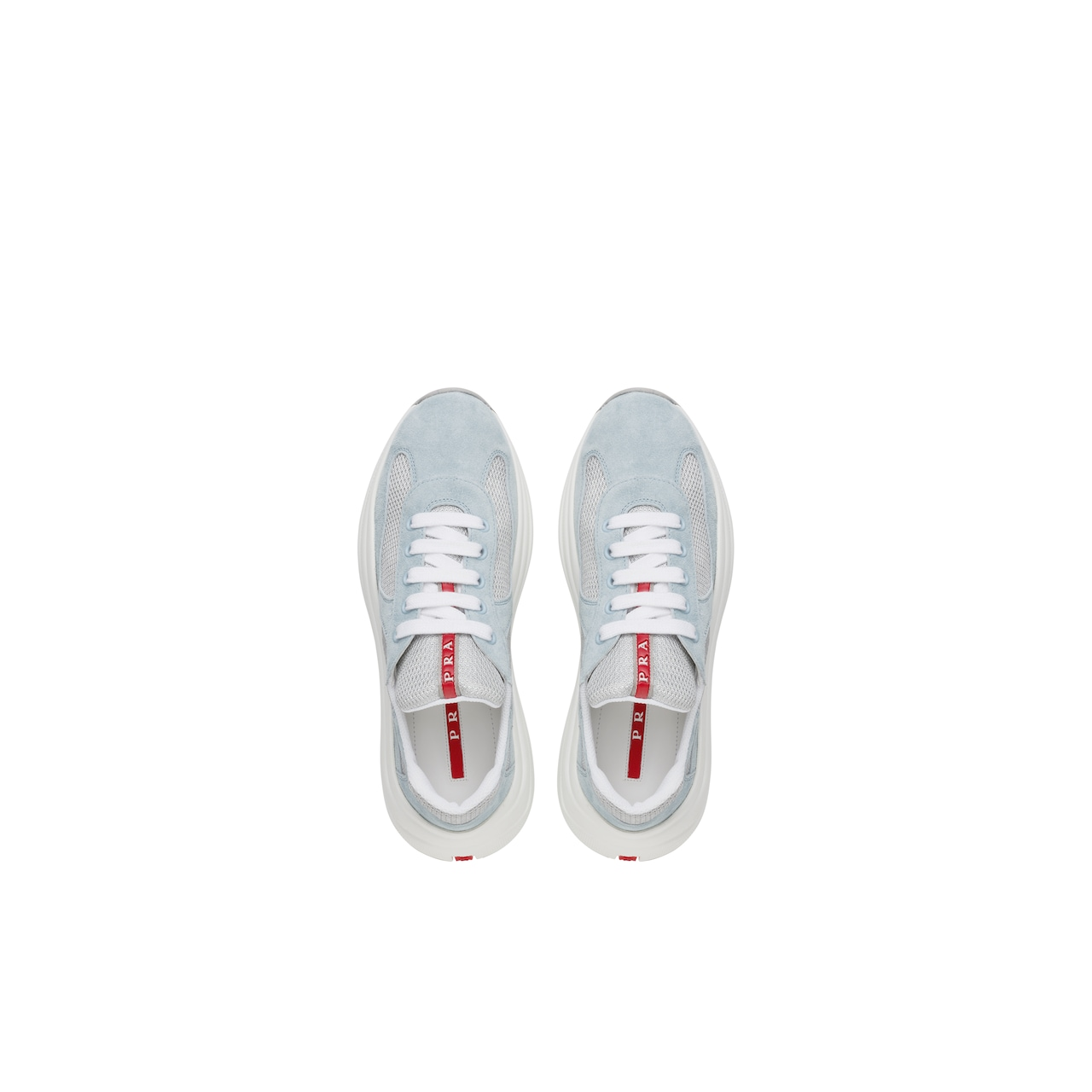 Prada America's cup suede and fabric sneakers 4