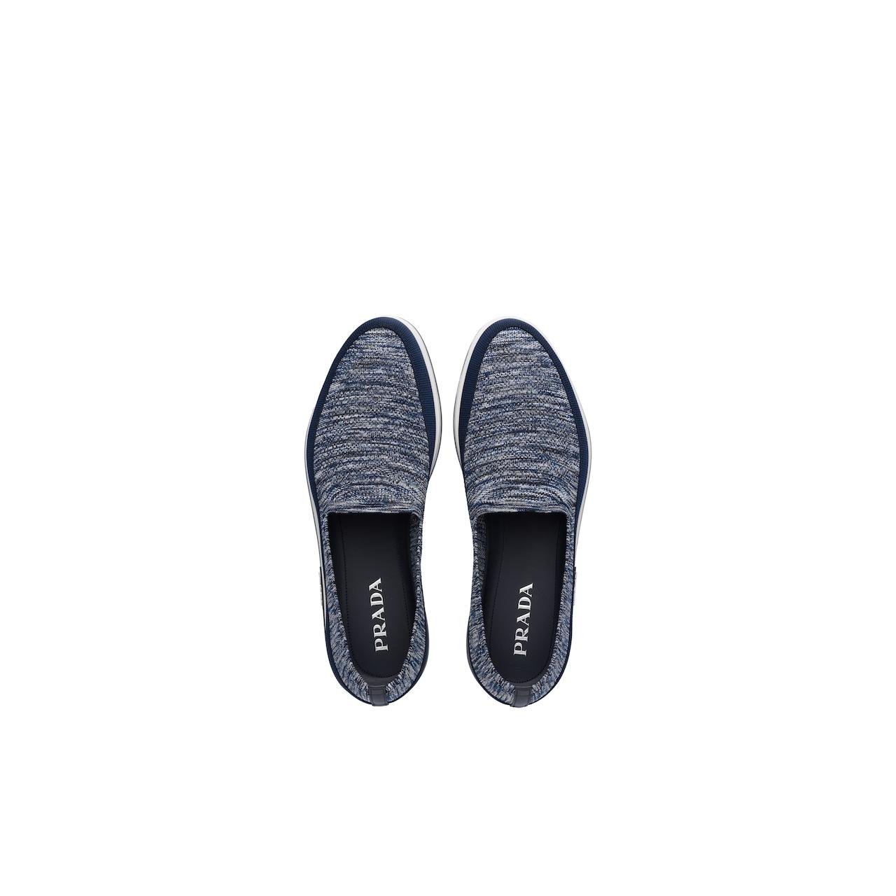 Prada 斜纹针织运动鞋 3