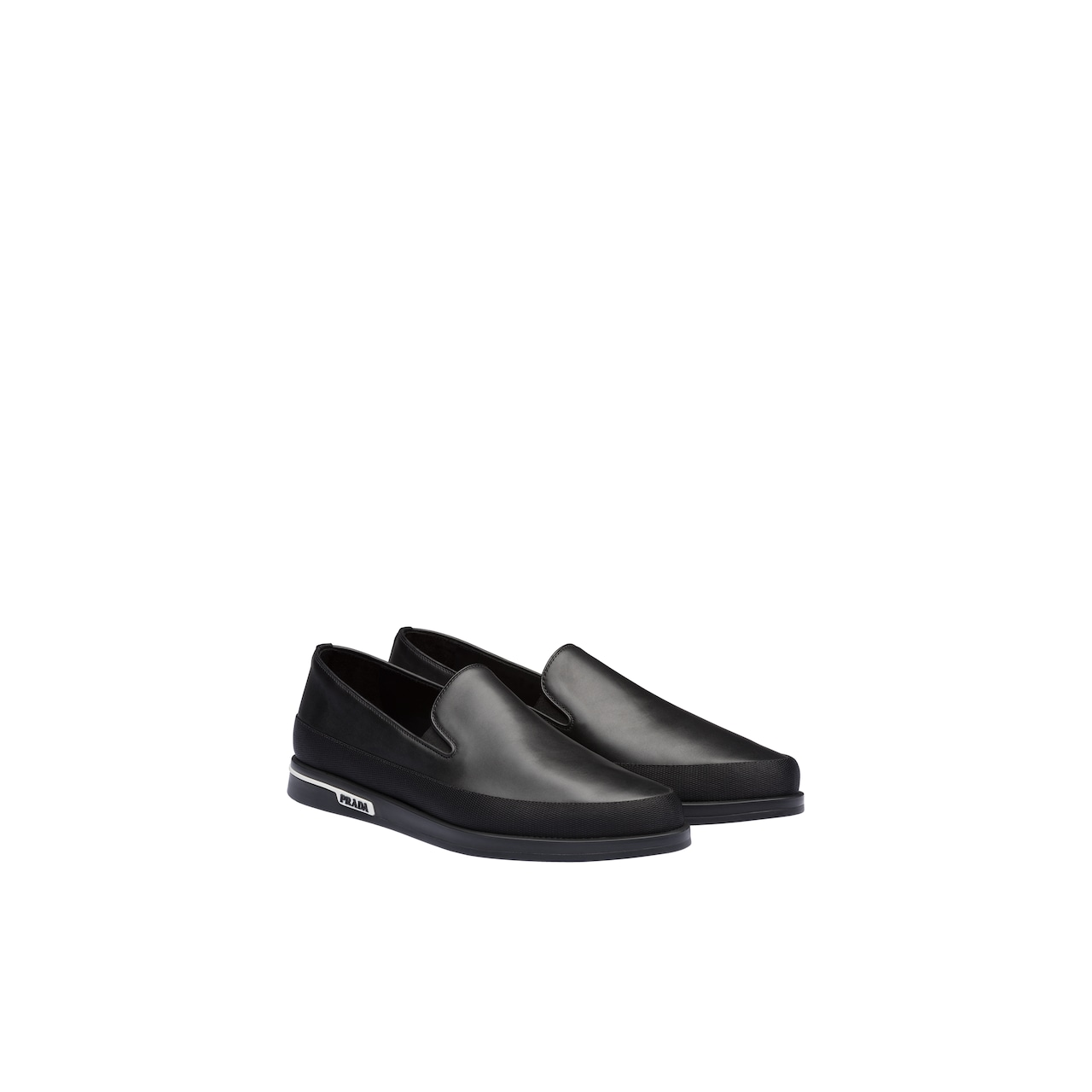 Prada Leather slip-on sneakers 1