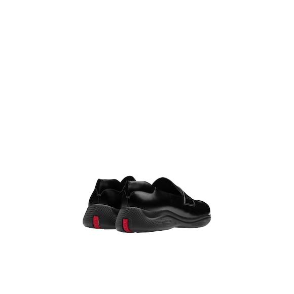 Prada Toblach Brushed Leather Slip-On Sneakers 4