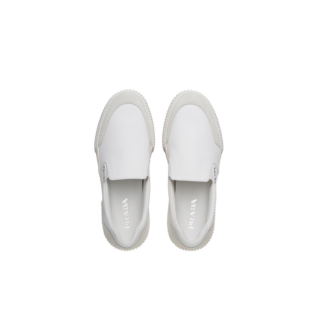 Prada 尼龙和麂皮运动鞋 4