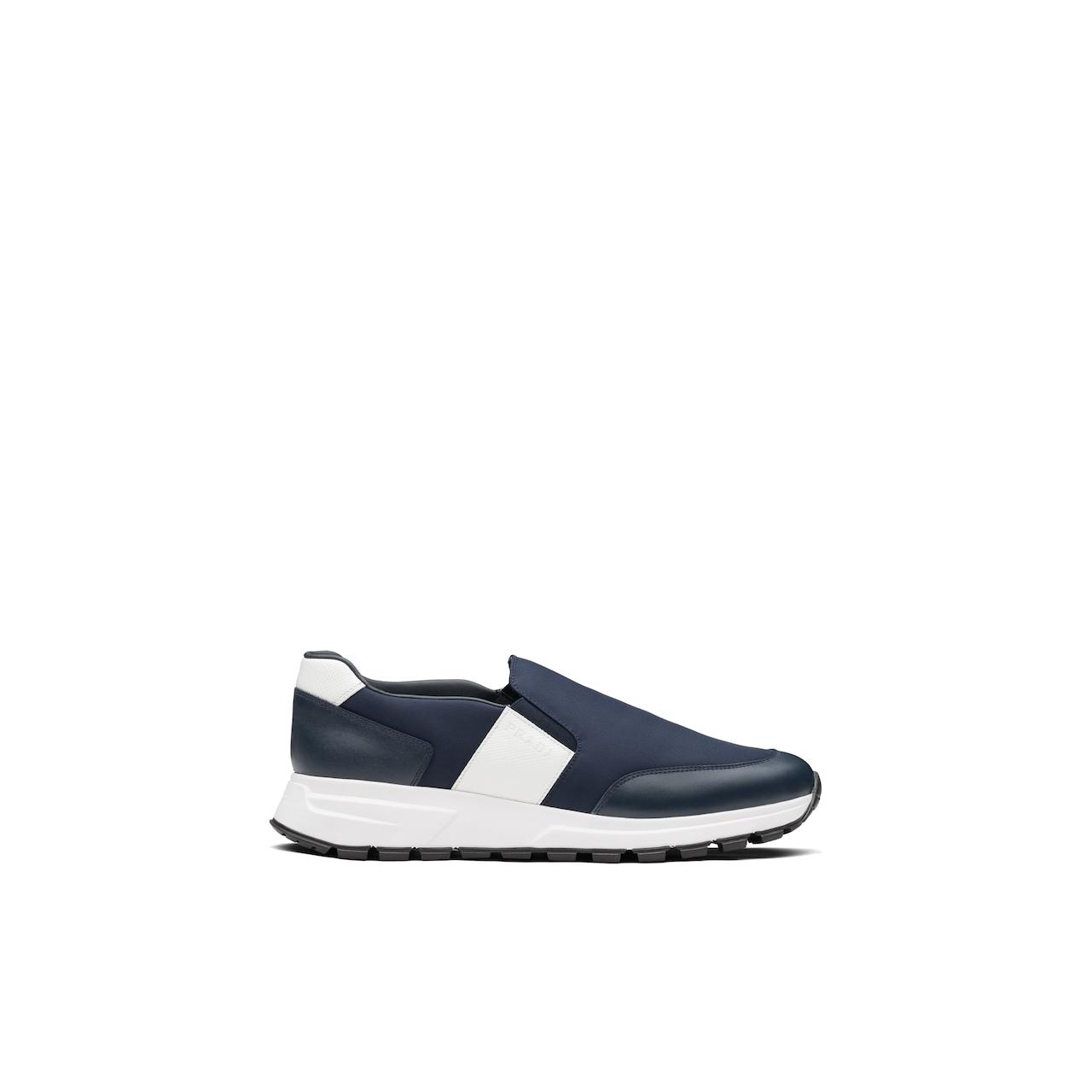 Prada 皮革和尼龙运动鞋 2
