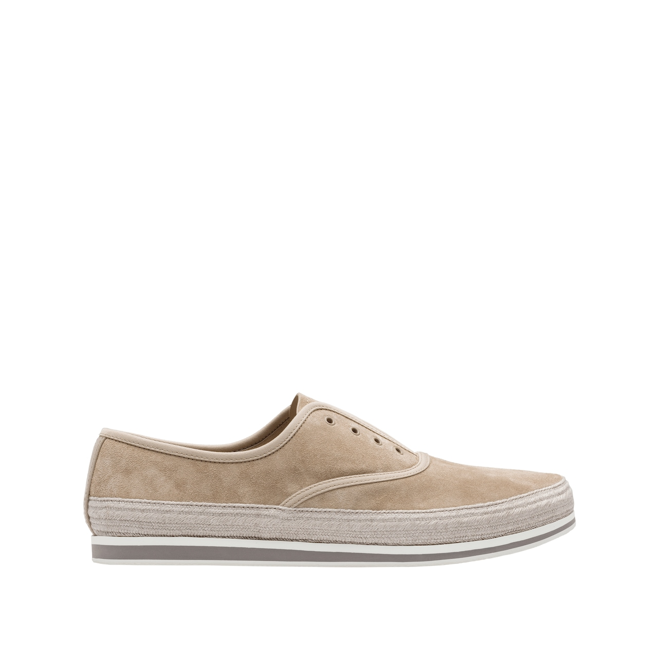 Suede slip-on shoes