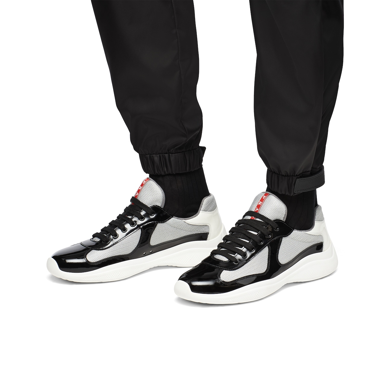 Prada America's Cup patent leather and nylon sneakers 3