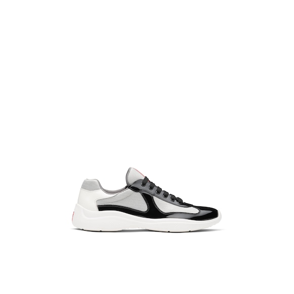 Prada America's Cup patent leather and nylon sneakers 4
