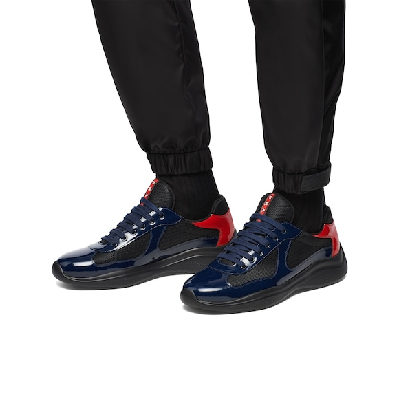 Prada America's Cup patent leather and nylon sneakers 2