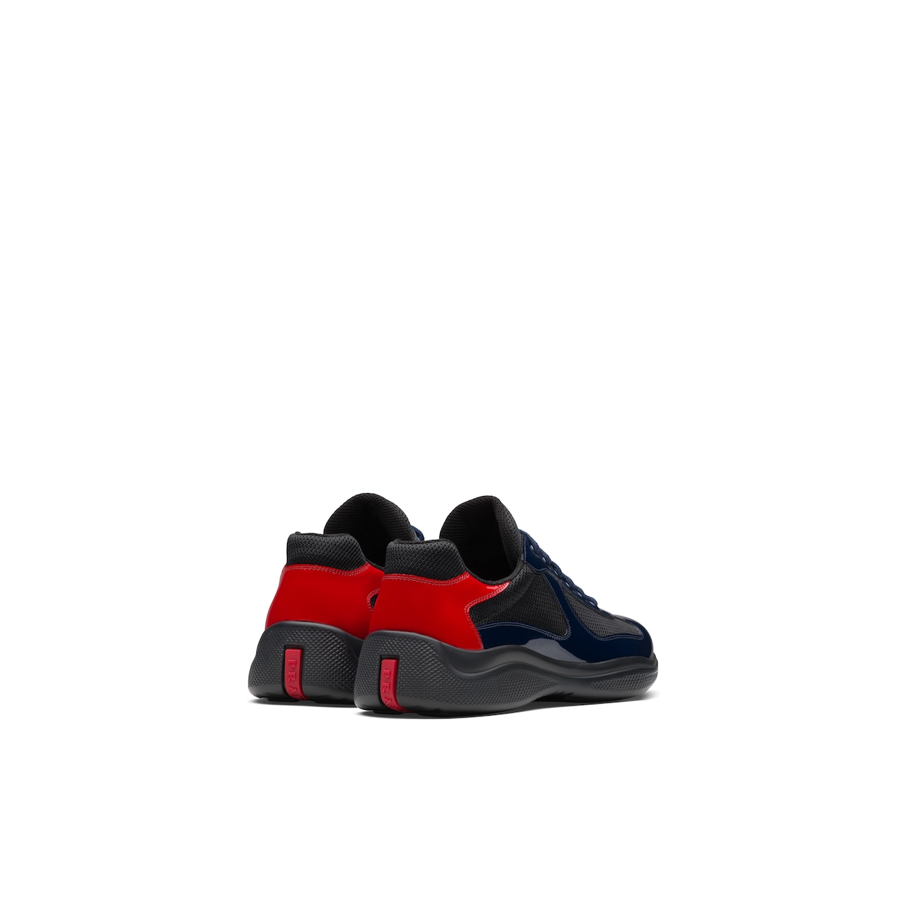 Prada America's Cup patent leather and nylon sneakers 5