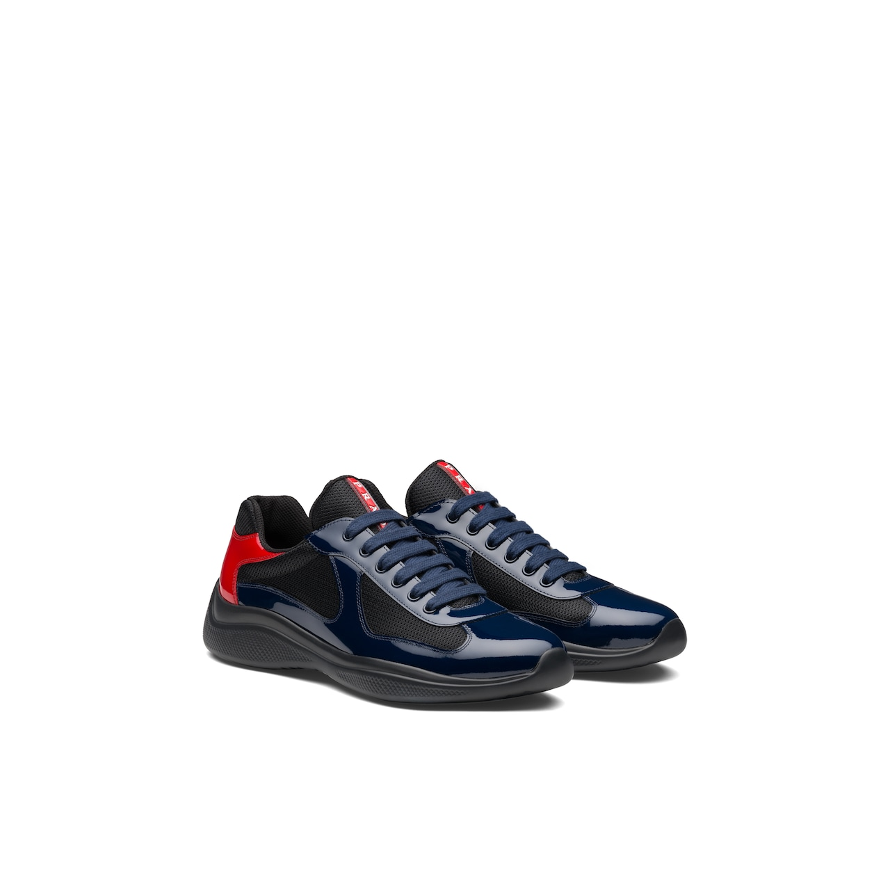 Prada America's Cup patent leather and nylon sneakers 1