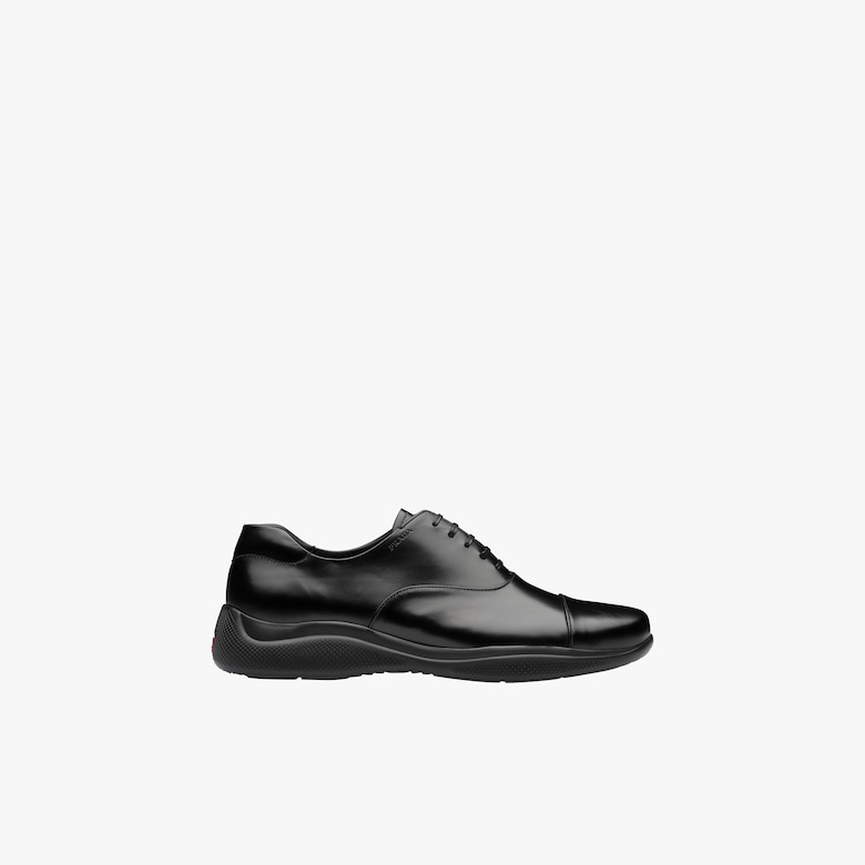 Brushed leather Oxford shoes