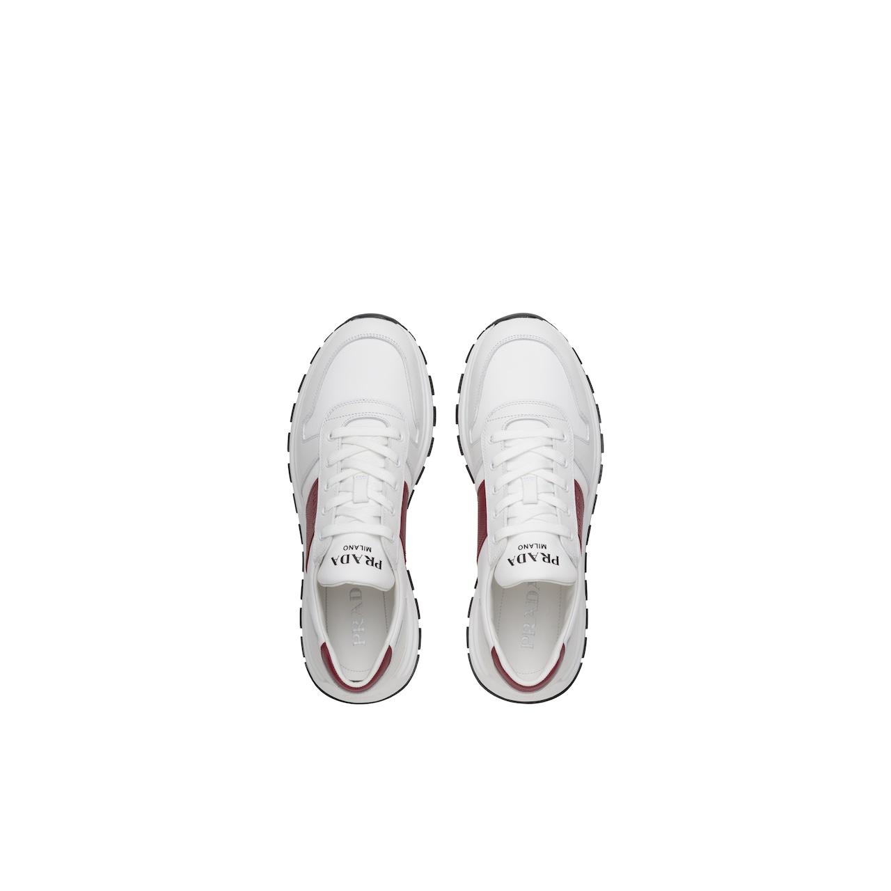 Prada 皮革和尼龙运动鞋 4