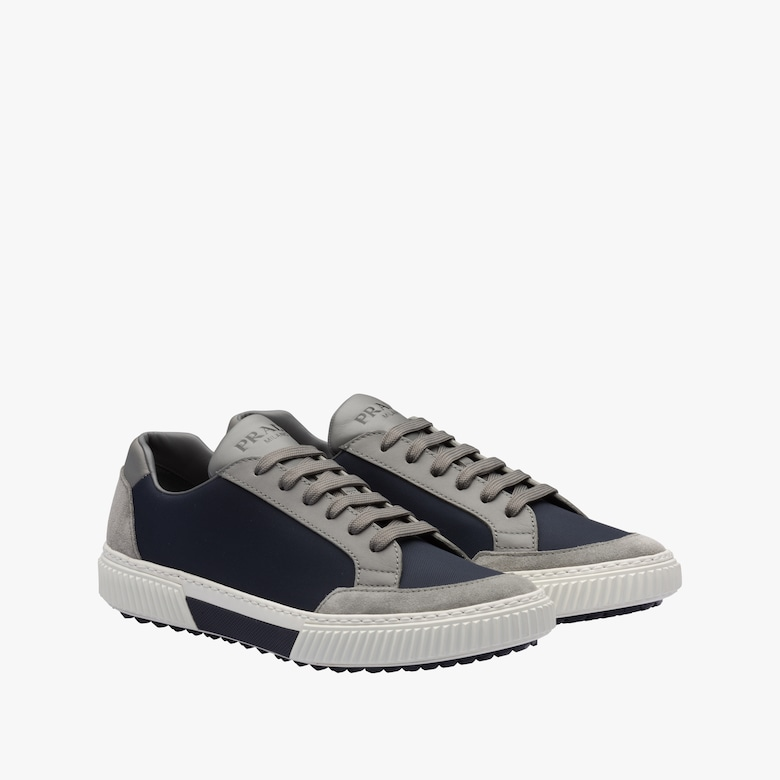 Prada Stratus Suede And Technical Fabric Sneakers - Man
