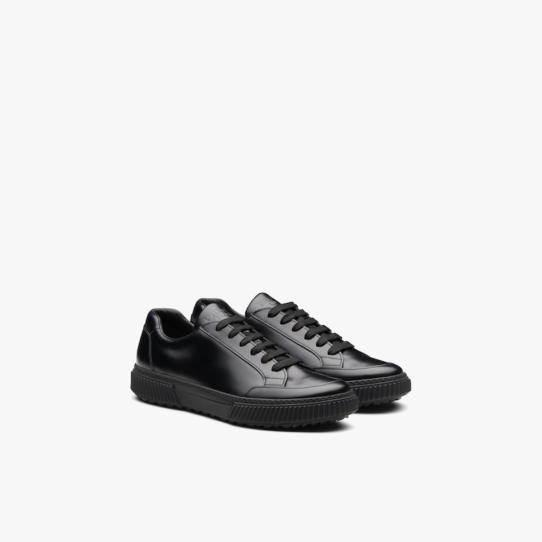 Prada Brushed rois leather derby sneakers - Man