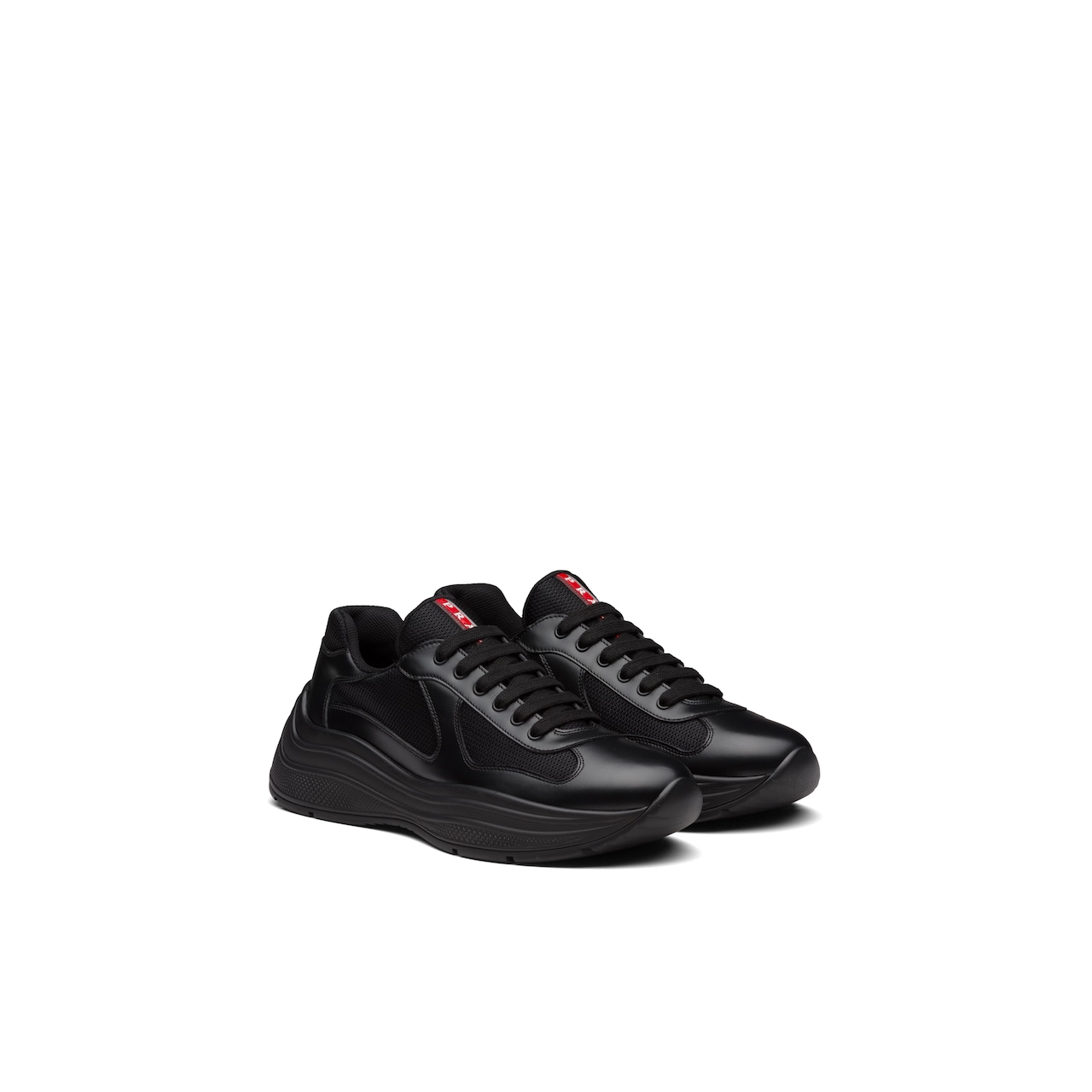 Prada America'S Cup Xl Leather Sneakers 1
