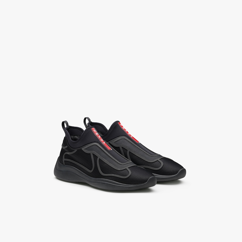 Prada New America'S Cup Technical Fabric Sneakers - Man