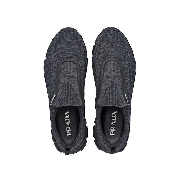 Crossection knit sneakers