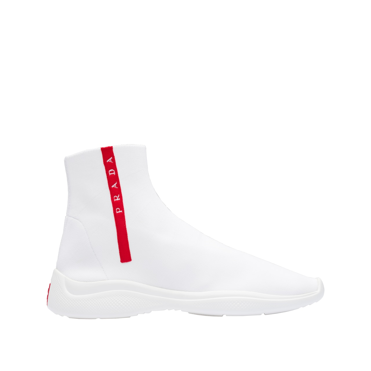 Knit fabric high-top sneakers