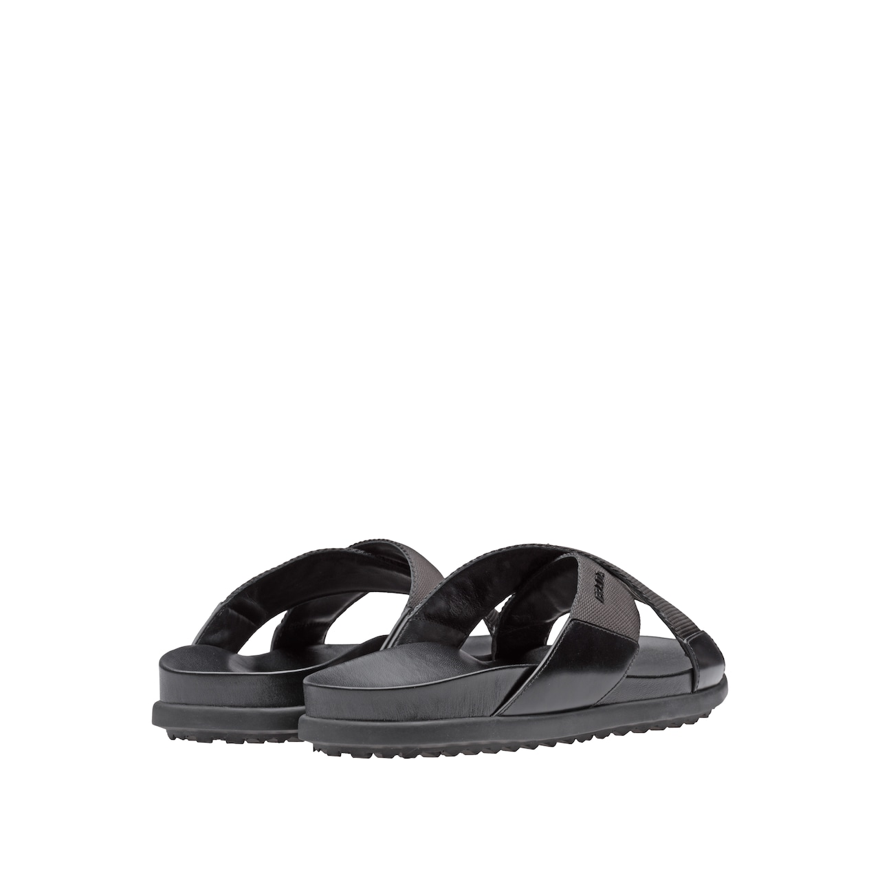 caa0073a068fe7 Next. 1 5. A sophisticated tonal combination of woven nylon bands and  brushed calf leather defines these crisscross sandals ...