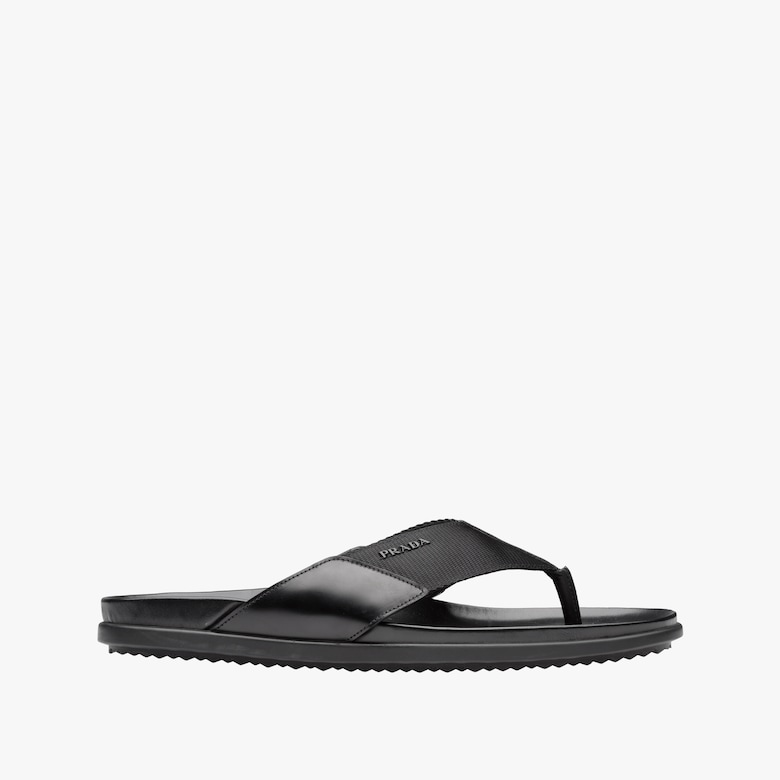 6dbcd43fc892 Nylon band and leather sandals