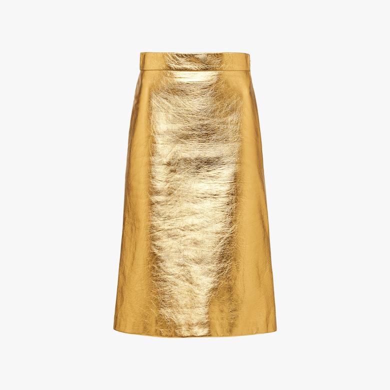 Prada Laminated nappa leather skirt - Woman