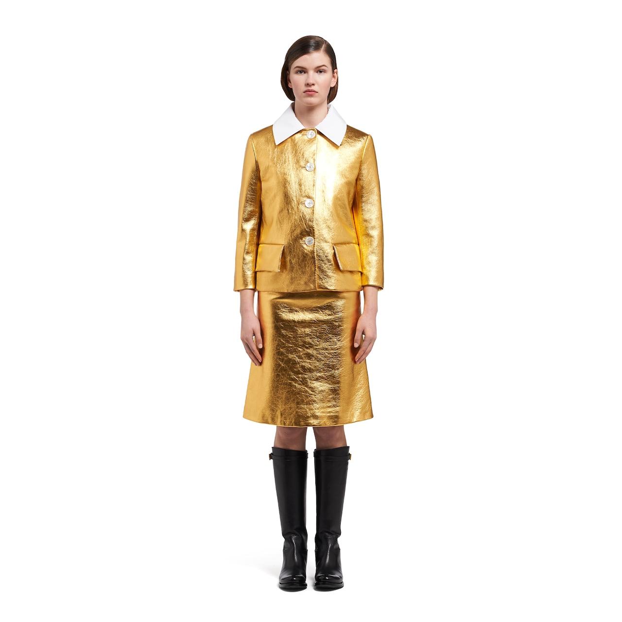 Prada 金属质感软羊革外套 2