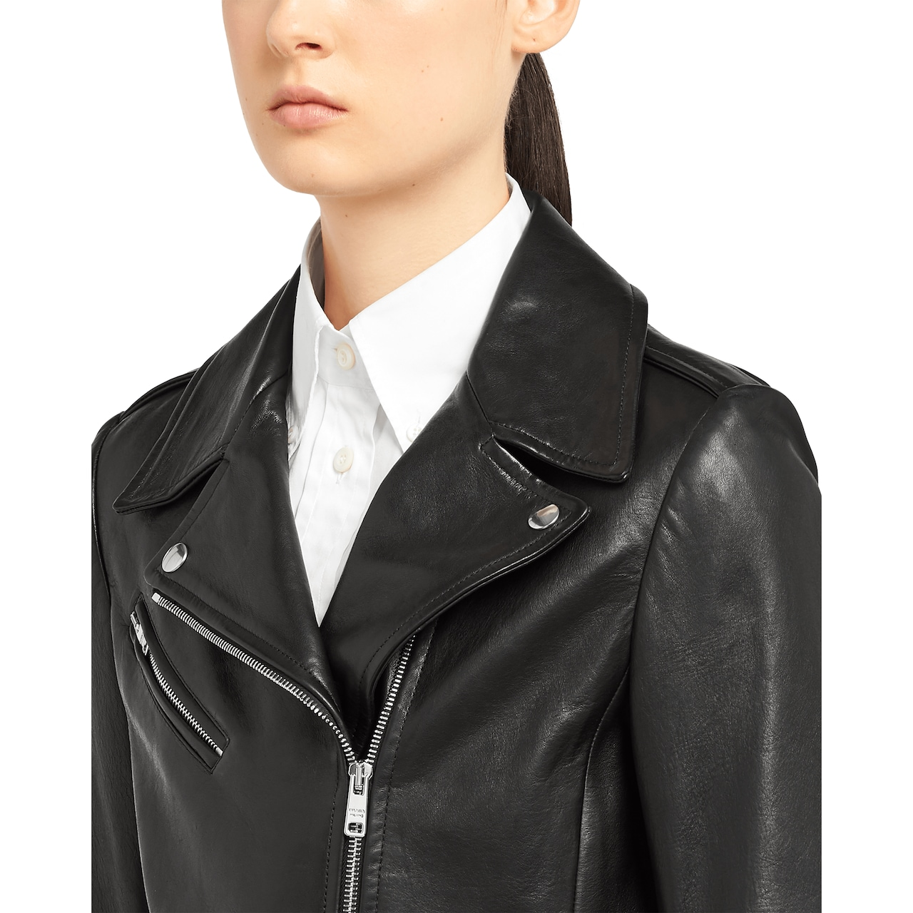 Prada Nappa leather biker jacket 5
