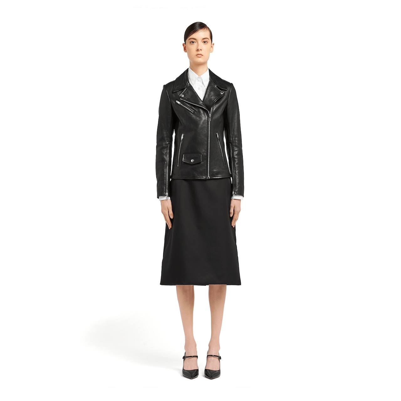 Prada Nappa leather biker jacket 2