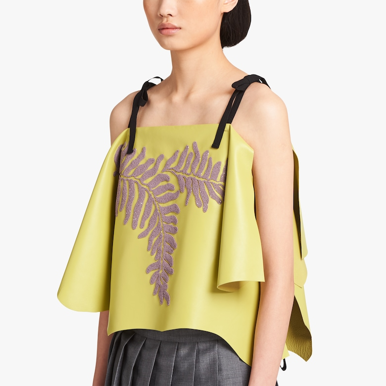 Nappa leather top