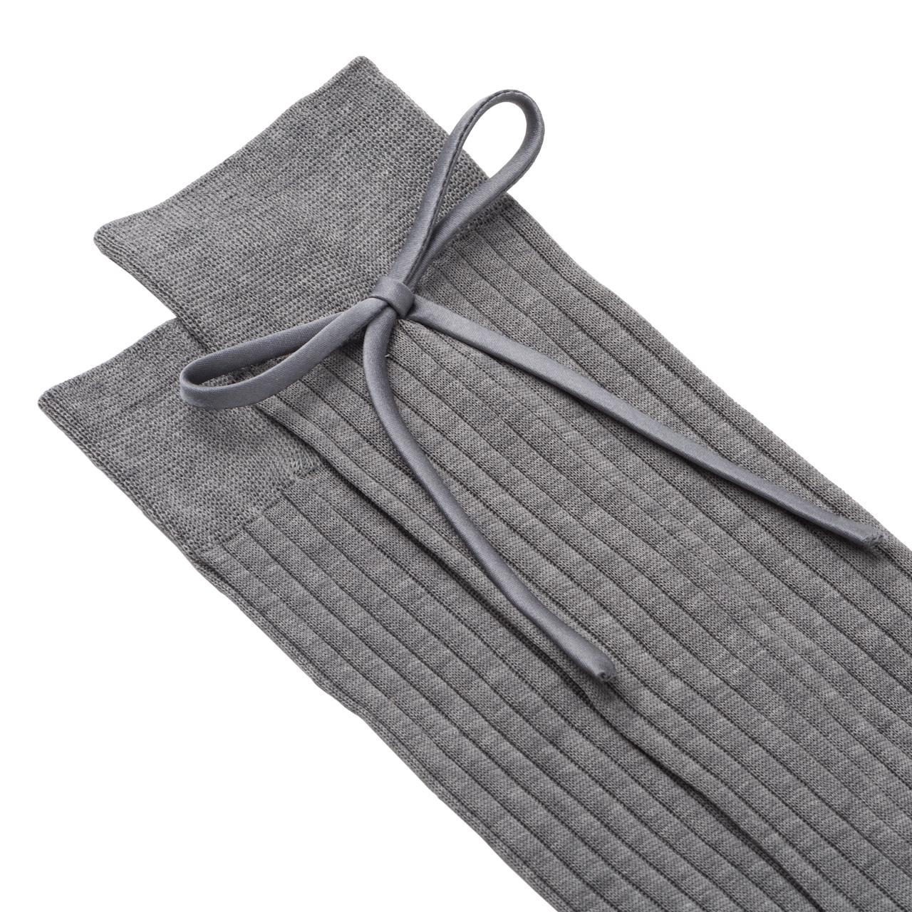 Lisle cotton socks with bow