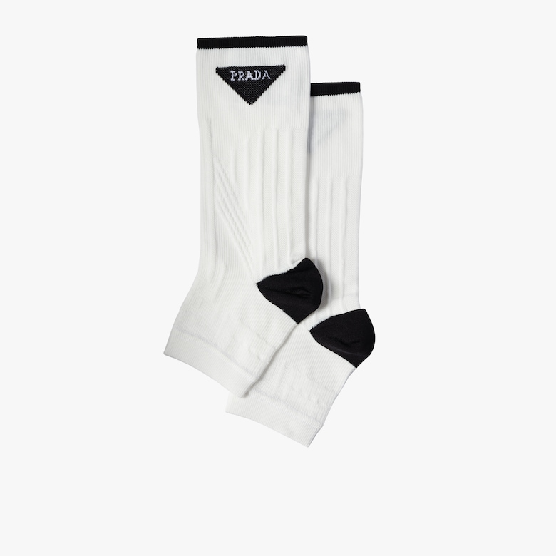 Technical nylon toeless socks