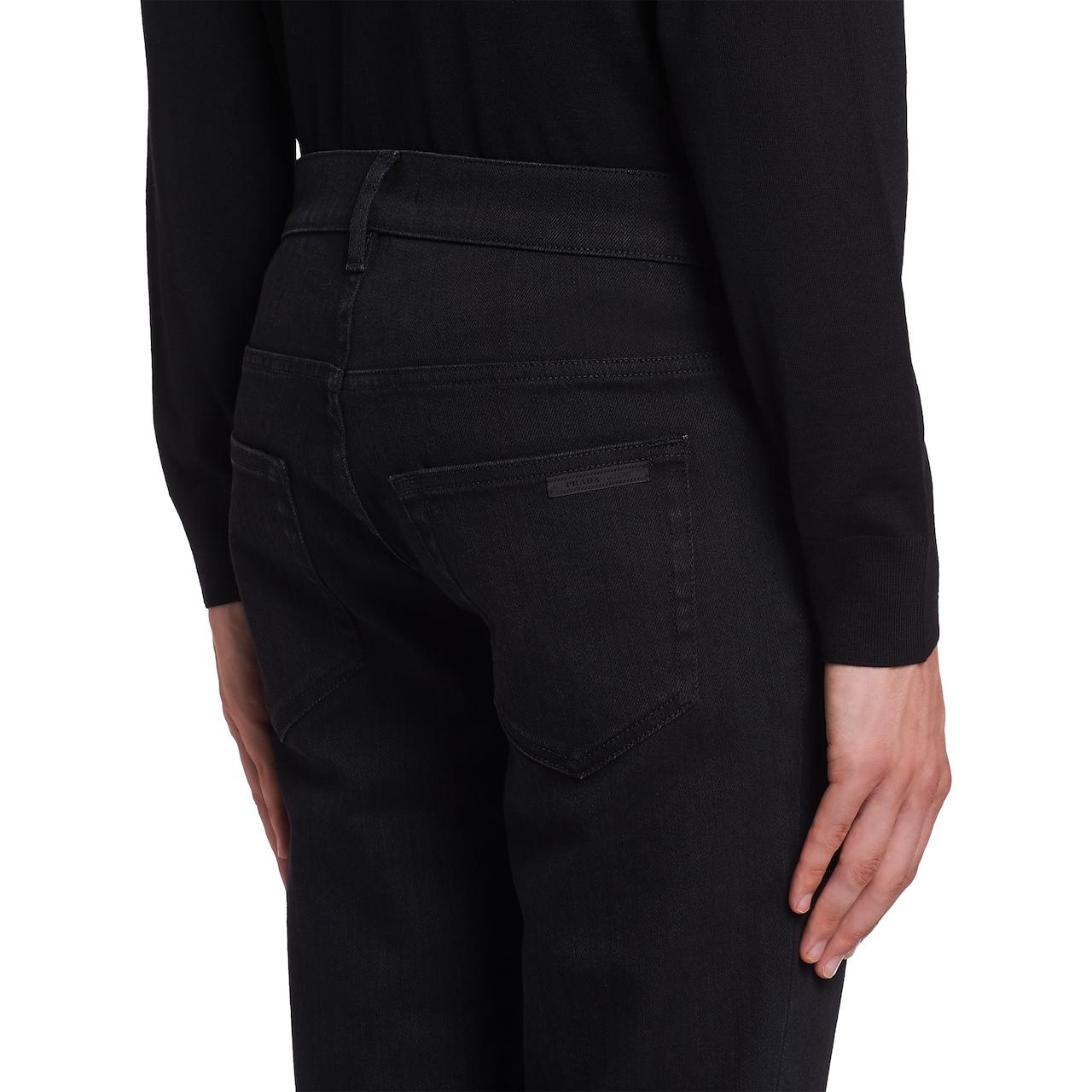 Skinny-fit washed denim jeans