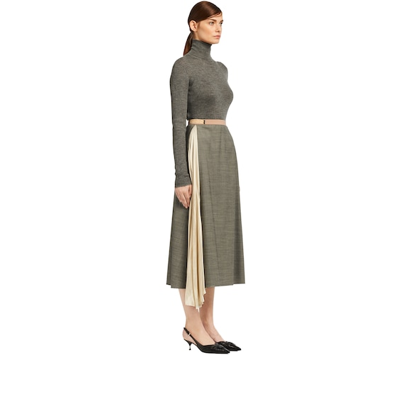 Grisaille skirt with insert
