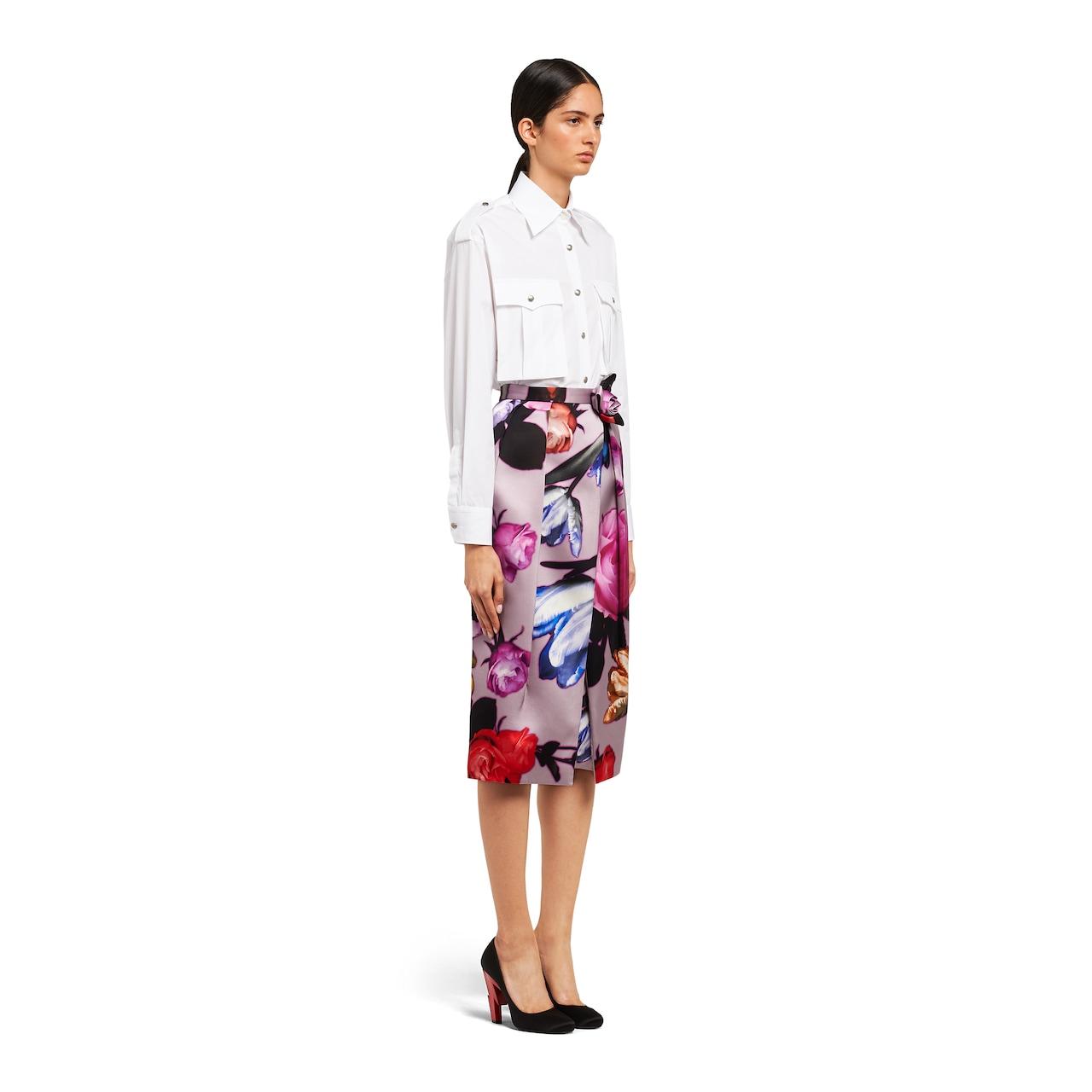 Prada Technical duchesse skirt 3