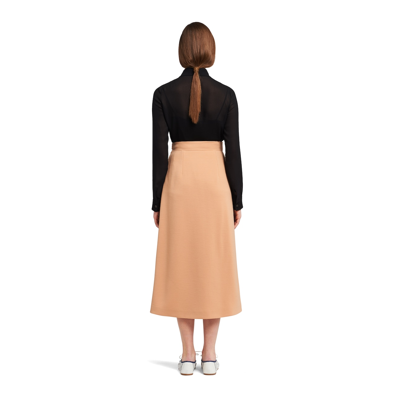 Prada Punto Stoffa knit skirt with beaded embroidery 4