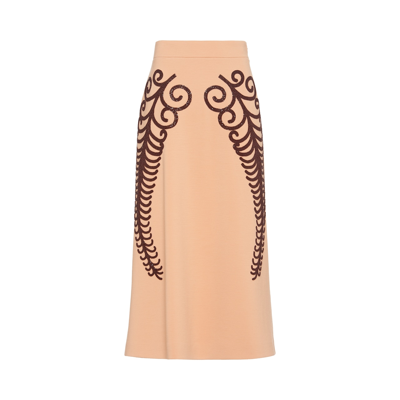 Prada Punto Stoffa knit skirt with beaded embroidery 1