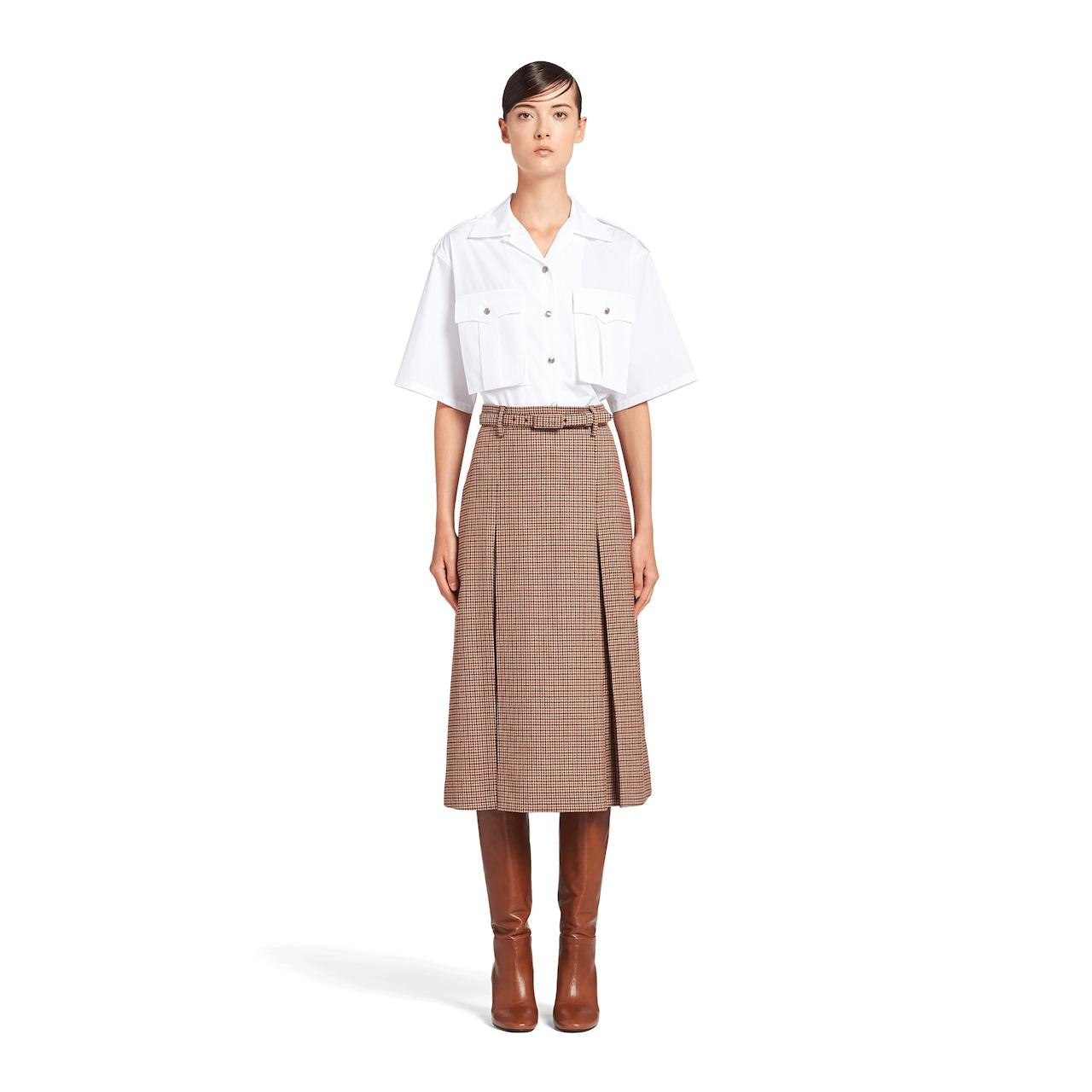 Houndstooth check skirt