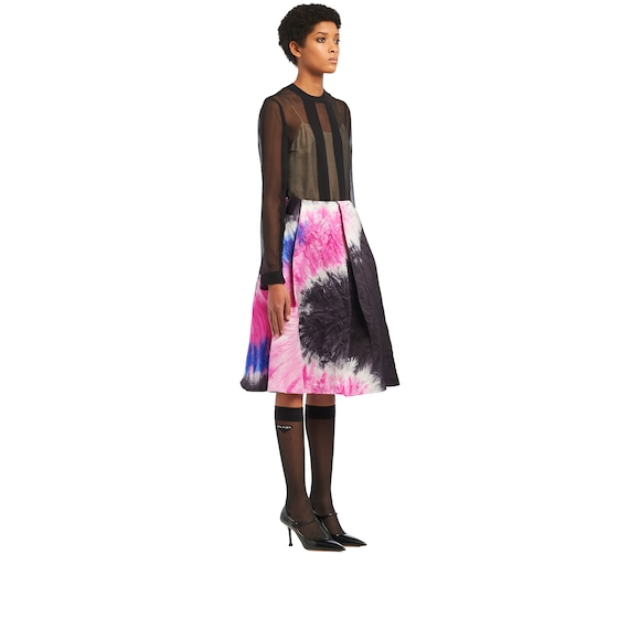 Silk faille skirt