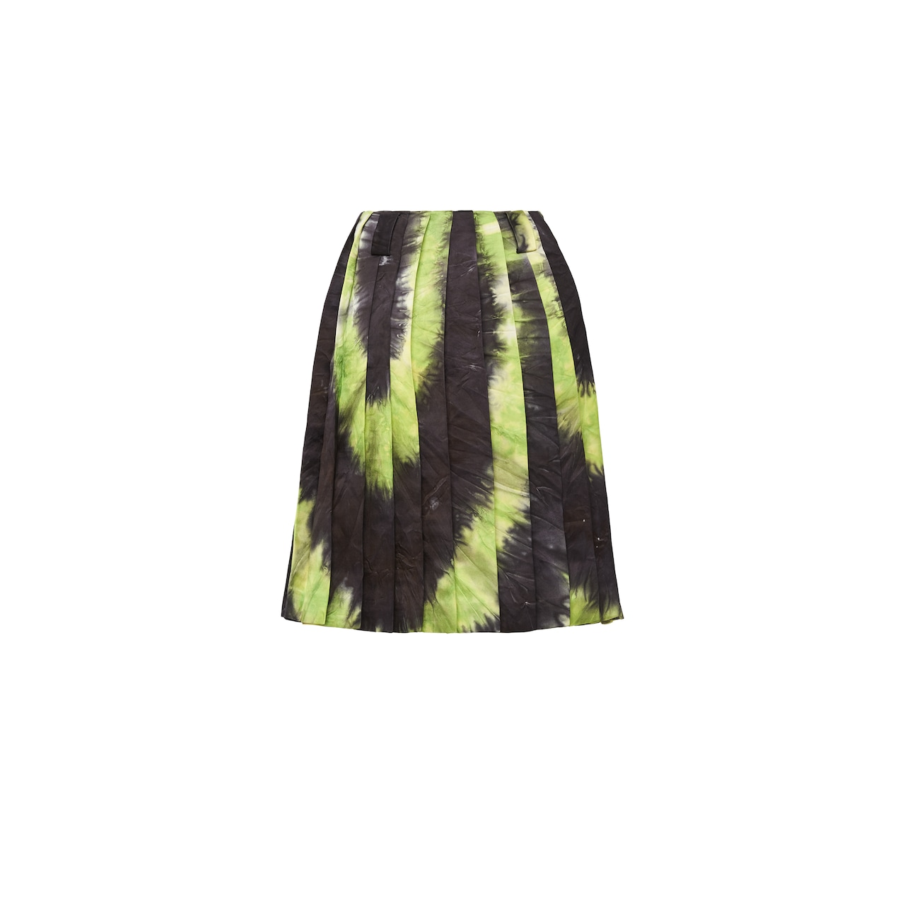Faille skirt with tie-dye motif