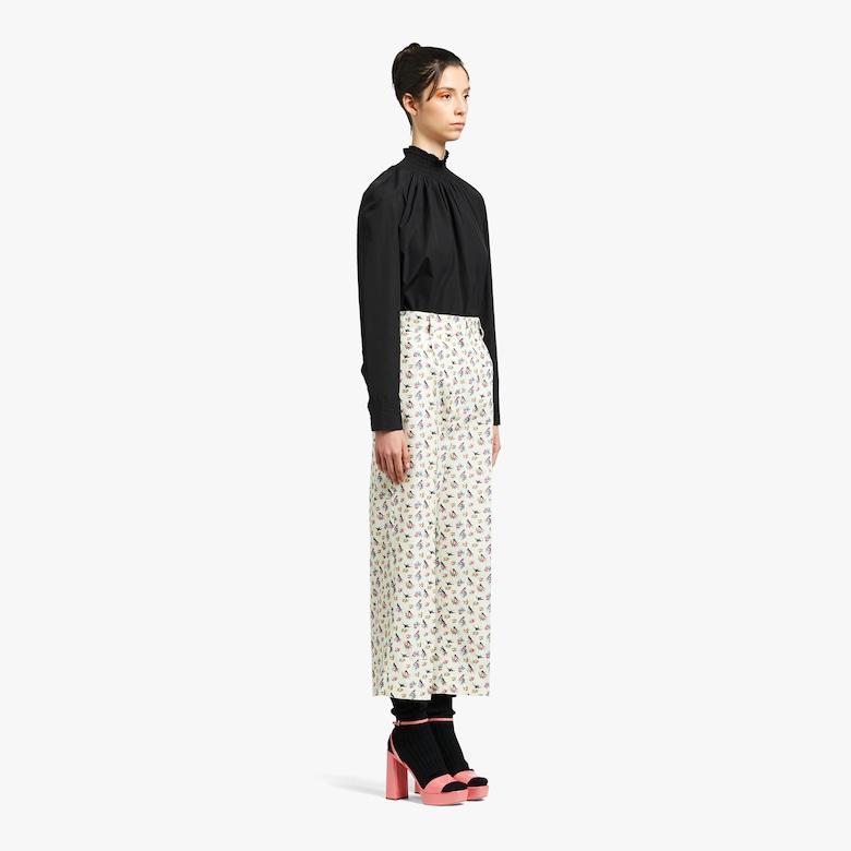 Silk faille trousers