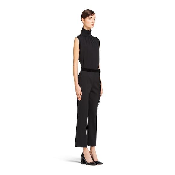 Prada 弹力色织席纹绸织物裤 2